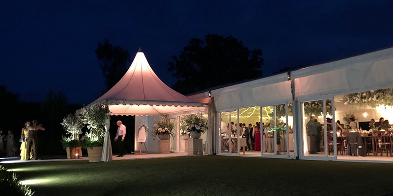 Are marquees warm in winter?