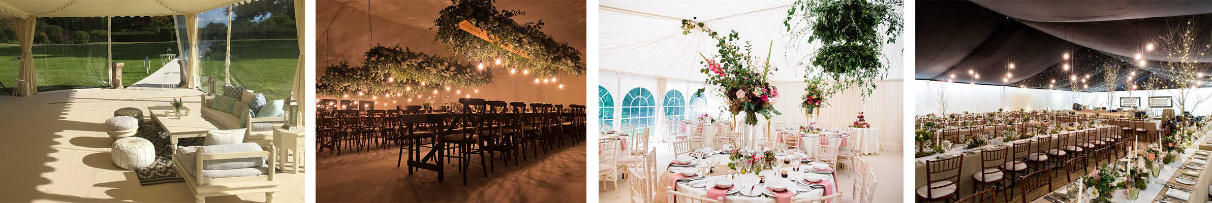 Wedding marquee hire: Decor options