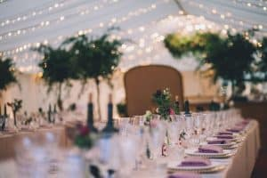 pandemic wedding planning, different marquees