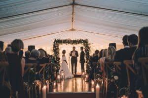 Luxury wedding marquee hire