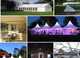 Marquee hire various marquee styles and options
