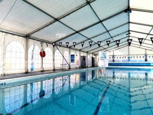 Long term marquee hire, pool cover