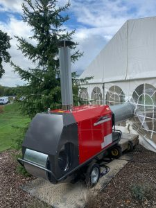 Long term marquee hire, marquee heating