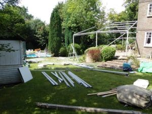 Will a marquee damage my lawn? Marquee on uneven ground